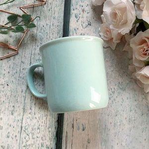 Davids tea speckled rustic mug mint blue cup